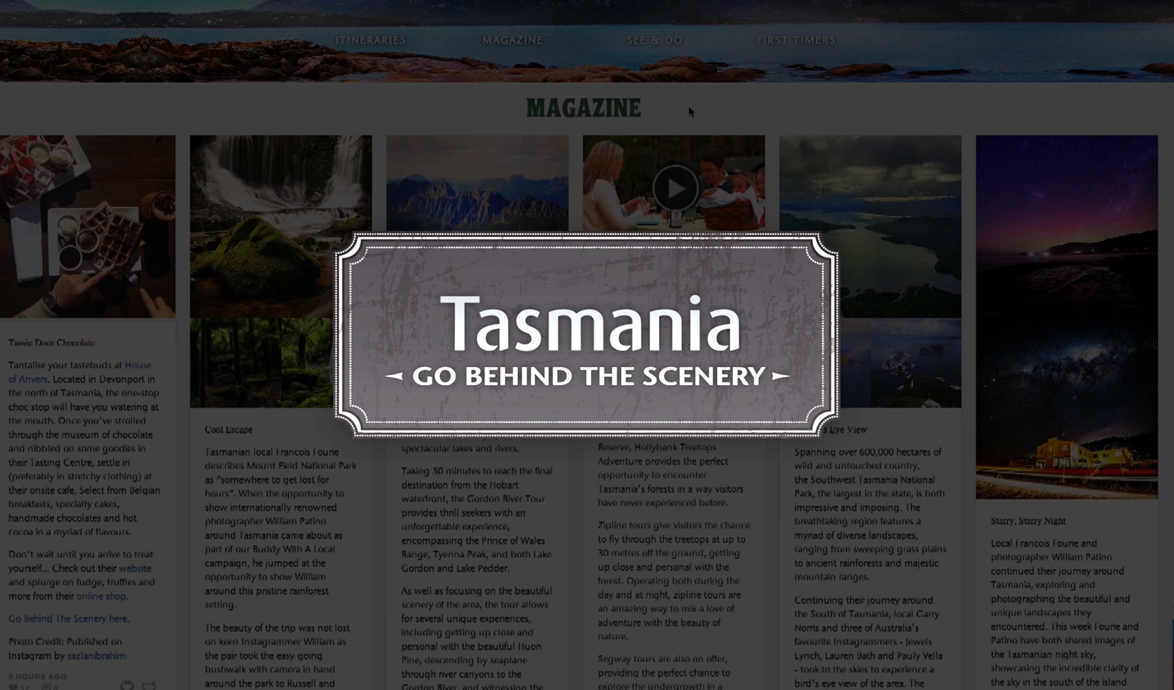 'Go Behind the Scenery' Campaign Case Study